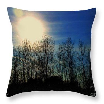 Winter Morning Throw Pillow by MaryLee Parker