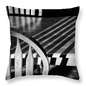 Winter Morning Shadows Throw Pillow