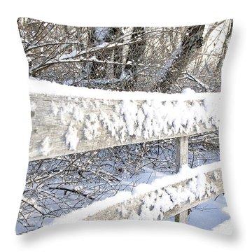 Winter Morning Throw Pillow by Thomas R Fletcher