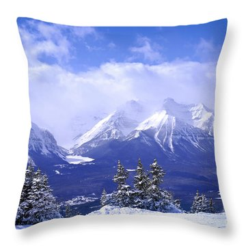 Winter Mountains Throw Pillow