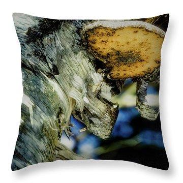 Winter Mushroom Throw Pillow