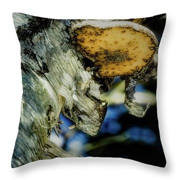 Winter Mushroom Throw Pillow