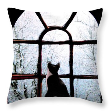 Winter Musing Throw Pillow
