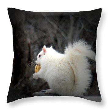 Winter Nibbles Throw Pillow