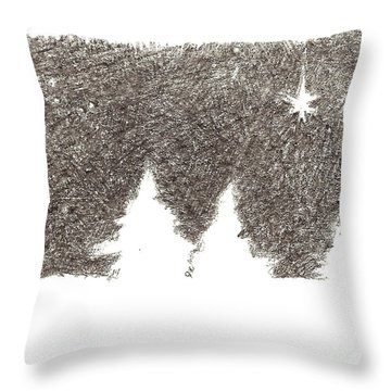 Winter Night - Aceo Throw Pillow