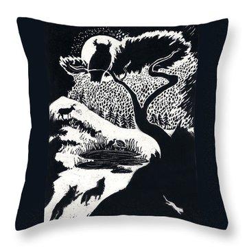 Winter Night Throw Pillow by Dawn Senior-Trask