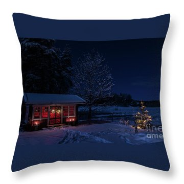 Throw Pillow featuring the photograph Winter Night by Torbjorn Swenelius