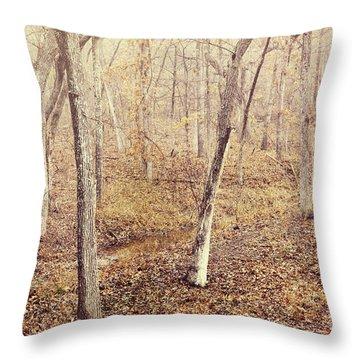 Winter Nostalgia Throw Pillow by Iris Greenwell