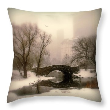 Winter Nostalgia Throw Pillow by Jessica Jenney