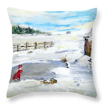 Winter Of Our Youth  Throw Pillow