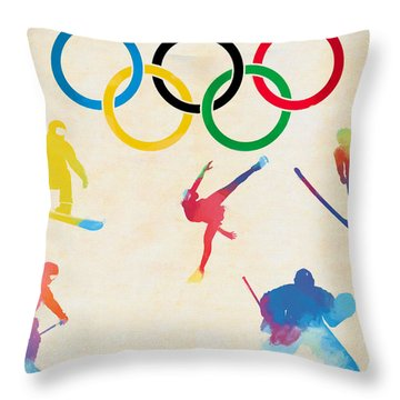 Winter Olympics Games Throw Pillow