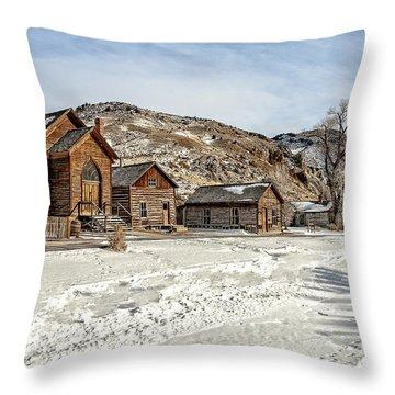Winter On Main Street Throw Pillow