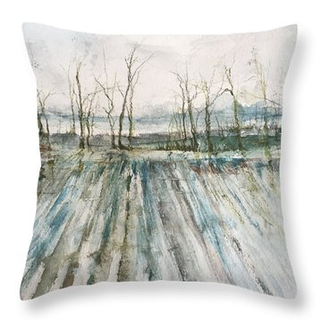 Winter On The Delta Throw Pillow