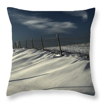 Winter On The South Downs Throw Pillow by Hazy Apple