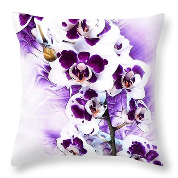 Winter Orchid Throw Pillow by Gabriella Weninger - David
