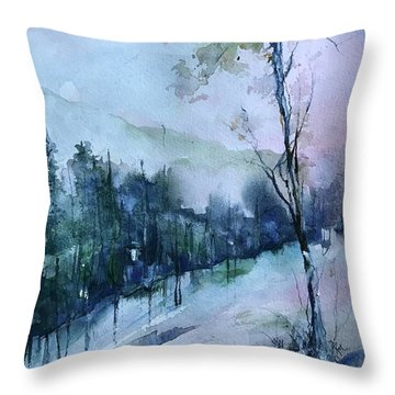 Winter Paradise Throw Pillow
