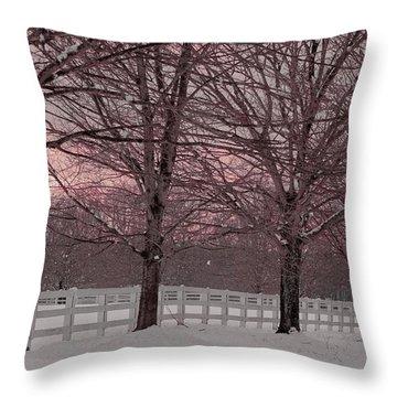 Winter Pink Throw Pillow