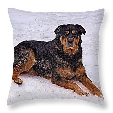 Winter Play Throw Pillow