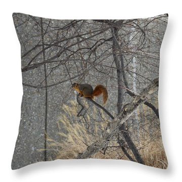 Winter Preparation  Throw Pillow