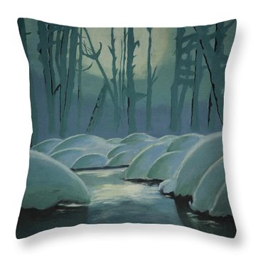 Winter Quiet Throw Pillow by Jacqueline Athmann