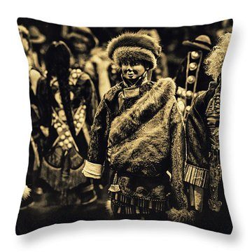 Winter Throw Pillow by Rajiv Chopra