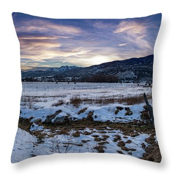 Sunset Range Throw Pillow