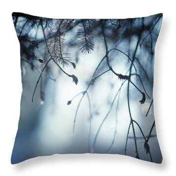 Throw Pillow featuring the photograph Winter by Rebecca Cozart