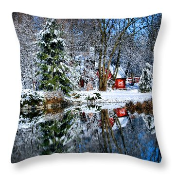 Winter Reflection Throw Pillow by Kristin Elmquist
