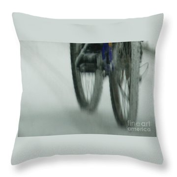 Winter Ride Throw Pillow by Linda Shafer