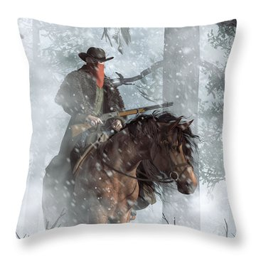 Winter Rider Throw Pillow