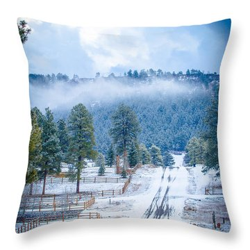 Throw Pillow featuring the photograph Winter Road by Jason Smith