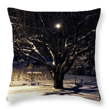 Winter Romace Throw Pillow by Samantha Thome
