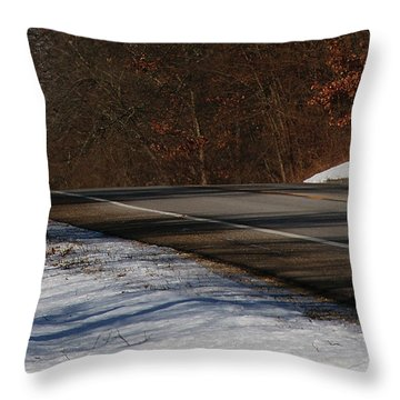Winter Run Throw Pillow by Linda Shafer