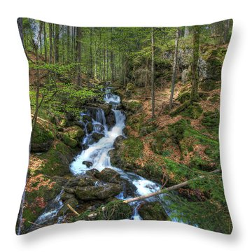 Winter Run Off Throw Pillow