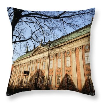 Winter Scene In Stockholm Throw Pillow by Margaret Brooks