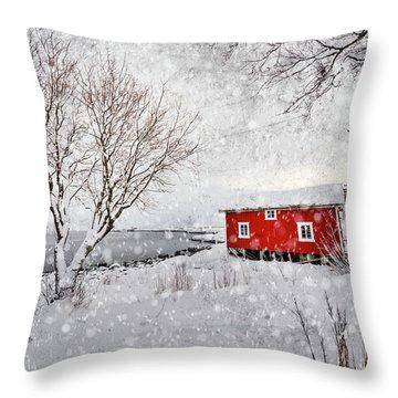 Winter Secret Throw Pillow