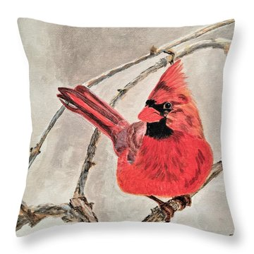 Winter Sentinal Throw Pillow