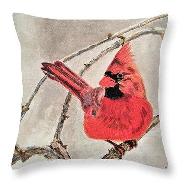 Winter Sentinal Throw Pillow