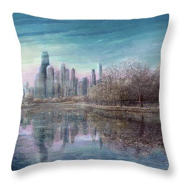 Winter Serenity Snow Throw Pillow by Doug Kreuger