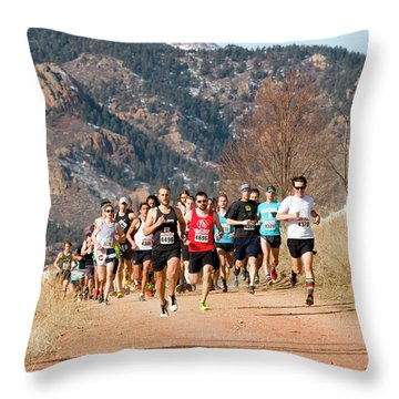 Winter Series II Peakrunners Throw Pillow