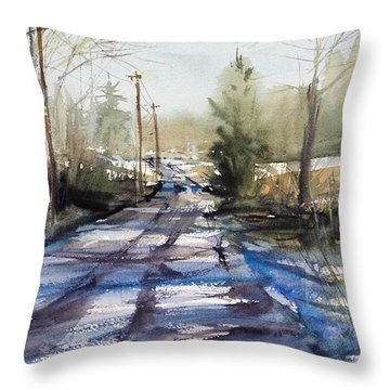 Winter Shadows  Throw Pillow by Judith Levins