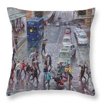 Winter Shopping Season Southampton Throw Pillow