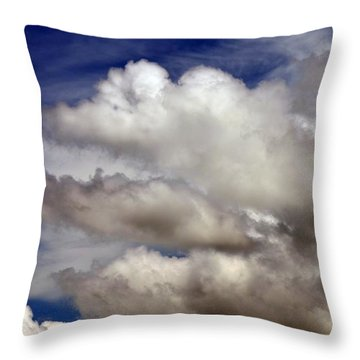 Winter Snow Clouds Throw Pillow