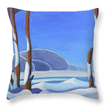 Winter Solace II Throw Pillow
