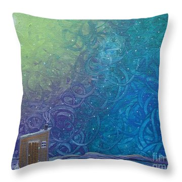 Winter Solitude 2 Throw Pillow