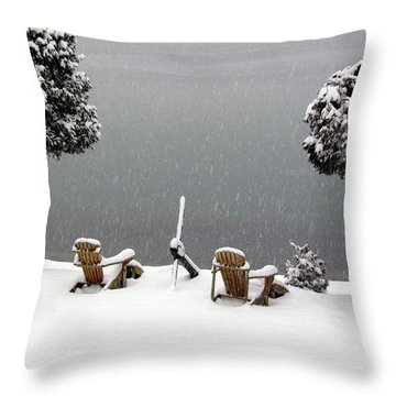 Winter Solitude Throw Pillow