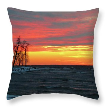 Winter Solstice Eve Throw Pillow