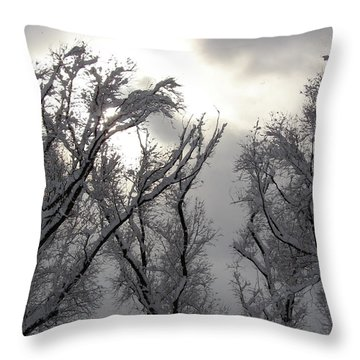Winter Solstice Utah Throw Pillow