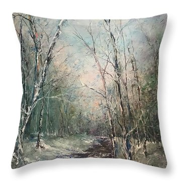 Winter Sojourn Throw Pillow