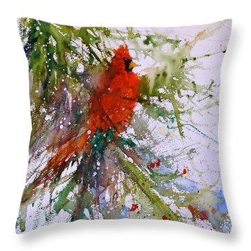 Winter Song Throw Pillow